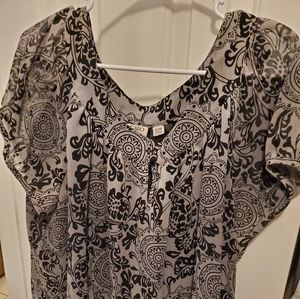 Cato side-tie blouse